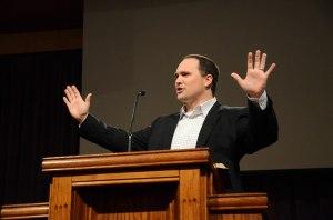 Justin Wainscott preaching