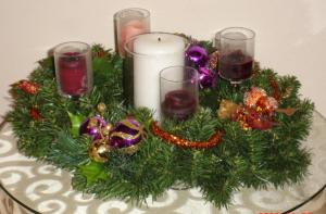 Advent Candles unlit 2