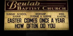 Church Signs Easter