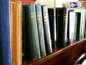 Baptist Hymnals 56 on shelf